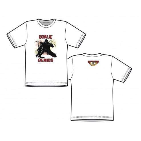 T Shirt - GOALIE GENIUS  (Front Logo)